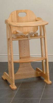 East Coast All Wood Multi Height Highchair, Natural