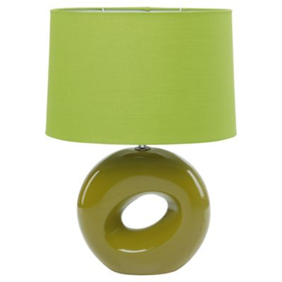 Tesco Lighting Calypso Table Lamp Lime