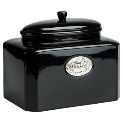 Tesco Country Kitchen Bread Canister, Black