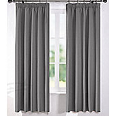 Living or Dining Room Thermal Blackout Curtains 46 x 54 in Grey Pewter