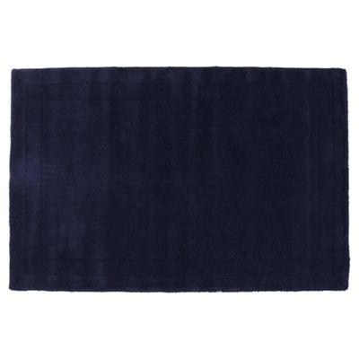 Tesco Rugs Wool Rug 100 x 150cm, Blue