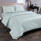 Homescapes Duck Egg Blue Organic Cotton Flat Sheet 400 Thread count, Double