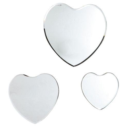 Set Of 3 Heart Mirrors