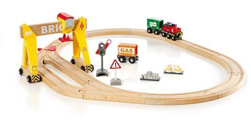Brio Freight Crane Set, wooden toy