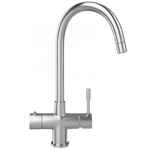 Franke Helix 3 in 1 Instant Hot Tap in Stainless Steel | Kettle Tap 1190273069 Complete with Tank & Filter