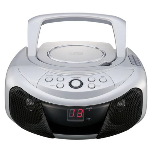 Tesco BB070 Value Boombox With Top Loading CD Player