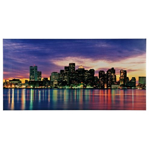 Boston Skyline Canvas 50X100Cm
