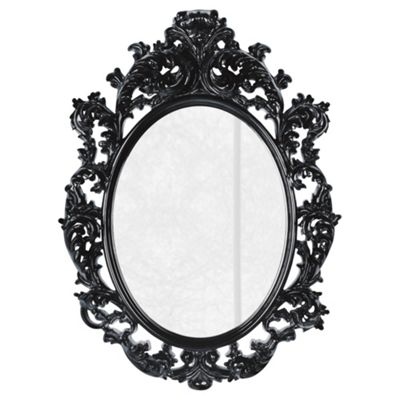 Buy baroque style mirror black from our mirrors range tesco for Plastic baroque mirror