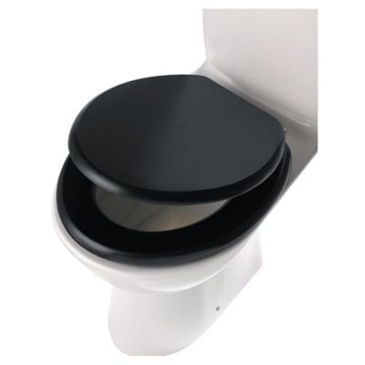 Charmant Tesco Wooden Toilet Seat, Dark Wood