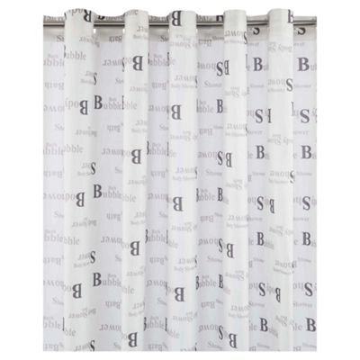 Tesco Bathing Words Shower Curtain