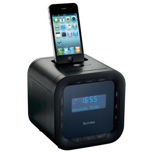 Technika DAB124 iPod/iPhone Docking DAB Clock Radio