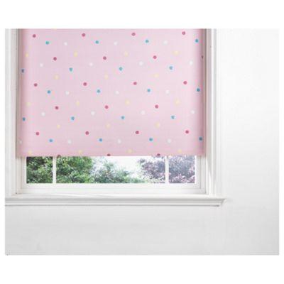 Kids Polka Dot Blind 60Cm, Pink