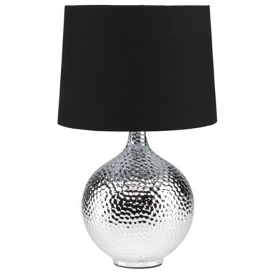 Tesco Lighting Punched Metal Table Lamp Chrome