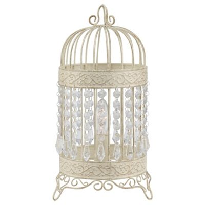 Tesco Lighting Birdcage Table Lamp
