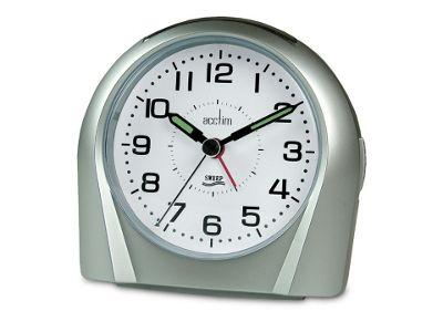 Acctim 14117 Europa Silent Tick Alarm Clock Silv