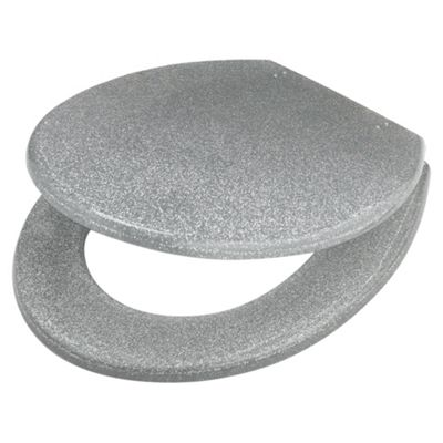 white sparkle toilet seat. Tesco Glitter Toilet Seat Silver Buy from our Seats range