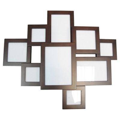 buy tesco multi aperture layered frame dark wood 10 aperture from our all frames range tesco. Black Bedroom Furniture Sets. Home Design Ideas