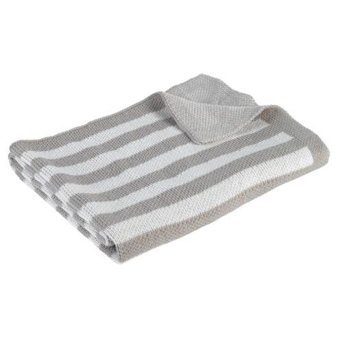 Kids Line Stripe Knit Blanket