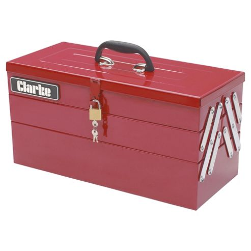Clarke CHT641 199  Piece DIY tool kit with cantilever tool box