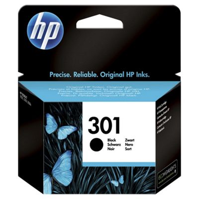 HP 301 Black Original Printer Ink Cartridge