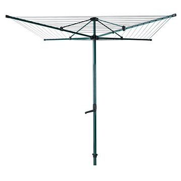 Heavy Duty 60m 4arm steel rotary airer with cranked hoist