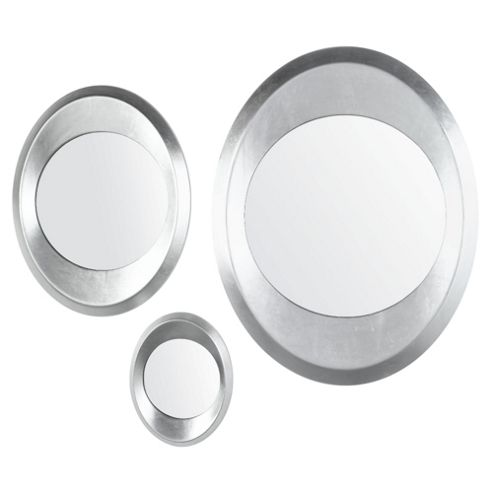 Set Of 3 Oval Mirrors