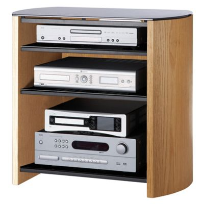 Alphason Light Oak Real Wood Veneer TV Stand for up to 37 TV