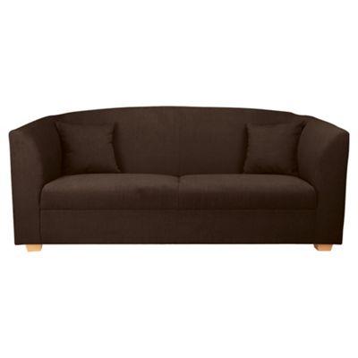 Stonebridge Large Fabric Sofa, Chocolate