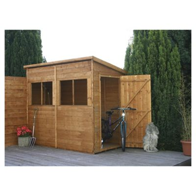 Mercia Pent Wooden Shed Unit with installation, 8x4ft