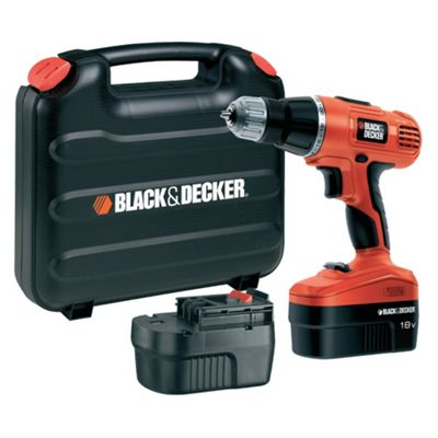 BLACK+DECKER 18V Hammer 2 Batt Kit Box EPC188BK