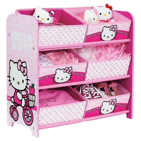 Worlds Apart Hello Kitty 6 Bin Storage