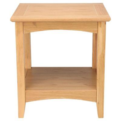 Stockholm Side Table With Shelf, Oak