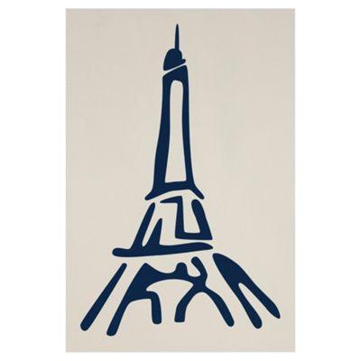 Eiffel Tower Wall Sticker Plum