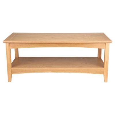 Stockholm Coffee Table With Shelf, Oak