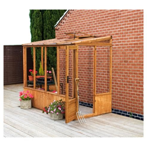 Mercia 8x4 Pent Greenhouse Unit with installation