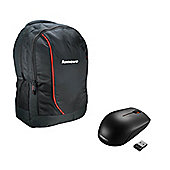 "Original Lenovo Backpack B3055 for 15.6"" Laptop & Lenovo 300 Wireless Mouse"