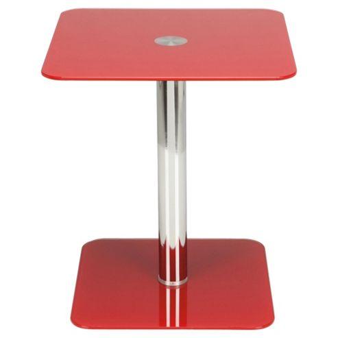 Atom Pedestal Side Table, Red