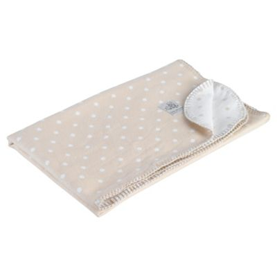 Clair de lune Cotton Spot Blanket, White