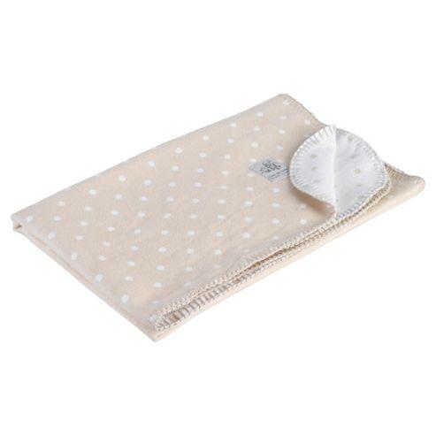 Clair de lune Cotton Spot Blanket, White