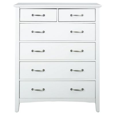 Stockholm 6 Drawer Chest, White