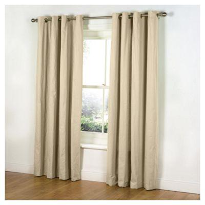 Tesco Plain Canvas Unlined Eyelet Curtains W117xL137cm (46x54