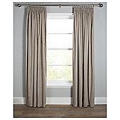 """Plain Canvas Pencil Pleat Curtains W229xL229cm (90x90"""") - Taupe"""
