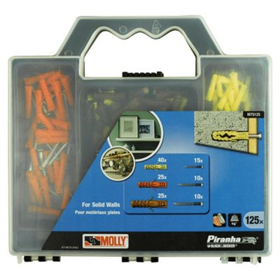 BLACK+DECKER Solid Wall Rawplug Set M75125-XJ