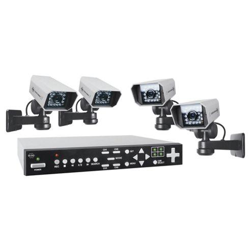 Byron Colour 320Gb Quad CCTV System Dvr320Set
