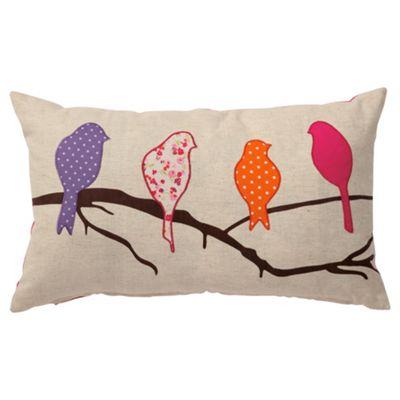 Tesco Applique Birds Cushion