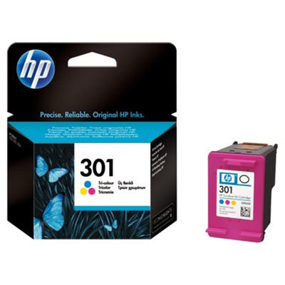 HP 301 Colour Printer Ink Cartridge - Cyan, Magenta and Yellow (CH562EE)