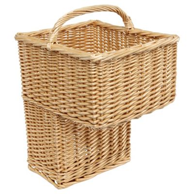 Tesco Basics Wicker Stair Storage Basket