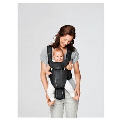 BABYBJORN Baby Carrier Active, Black, Mesh