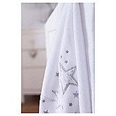 Clair de Lune Stardust blanket, white