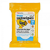 Petkin Sunscreen Wipes Spf15 20 Pack